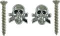 Strap Buttons Grover Skull Chrome