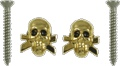 Strap Buttons Grover Skull Gold