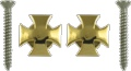 Strap Buttons Grover Iron Cross Gold