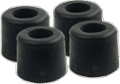 Feet Rubber 5 8 Inch Diameter x 1 2 Inch Tall Steel Washer Insert pkg of 4