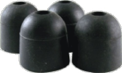 Feet Rubber 1 Inch Diameter x 1 Inch Tall Steel Washer Insert package of 4