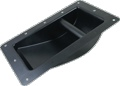 Handle Recessed for Cabinet Steel Black Smooth Large
