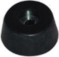 Feet Large Tapered Rubber Foot with Zinc Washer package of 4