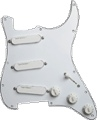 Loaded Pickguard Lace White Loaded with 3 Gold Lace Sensors