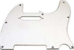 Pickguard Tele 3-Ply WhiteWhite Black White
