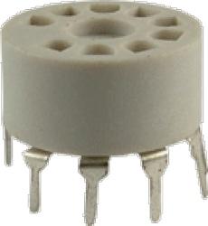Socket 9 Pin Miniature Plastic PC Mount