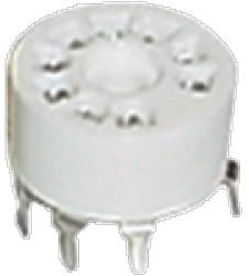 Socket 9 Pin Miniature Standoff Ceramic PC Mount