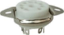 Socket 9 Pin Miniature Ceramic Chassis Mount