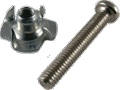 Screw with Matching T-Nut Panhead Phillips 1 Inch package of 4