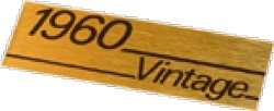 Lead Plate Genuine Marshall for Vintage 1960